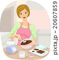 Girl Making Sweets Chocolate 20607859