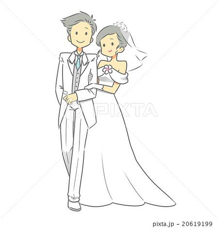 結婚式 新郎新婦 2のイラスト素材 20619199 Pixta