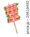 焼き鳥 焼鳥 アスパラベーコン巻きのイラスト 20619492