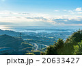 【静岡県】高所から眺める清水市と三保半島 20633427