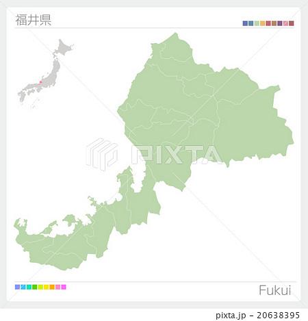 福井県の地図 20638395