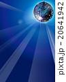 ミラーボールのイラスト背景あり 20641942