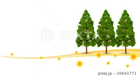 花粉 スギ 木 背景 のイラスト素材 [20643771] - PIXTA