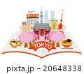 開いた本から東京観光街並イメージ 20648338
