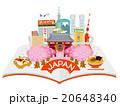 開いた本から日本観光街並イメージ 20648340