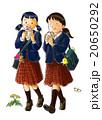 クレープを食べる女子 20650292