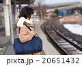 電車通学をする女子中学生 20651432