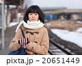 電車通学をする女子中学生 20651449