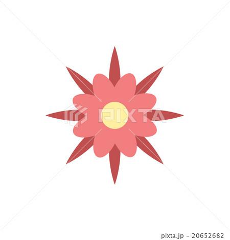 flat icon on white background flower silhouette  のイラスト素材 [20652682] - PIXTA