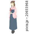 卒業 卒業証書 袴姿のイラスト 20655968