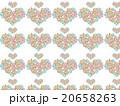 ハート形 アジア 模様 花柄 ハーブ 多肉植物 オーナメントプランツ デコニク サボテン 植物 水彩 20658263
