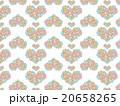 ハート形 アジア 模様 花柄 ハーブ 多肉植物 オーナメントプランツ デコニク サボテン 植物 水彩 20658265
