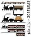 蒸気機関車、客車、貨車 20658583
