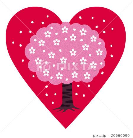 ハートに桜の木のイラスト素材 [20660090] - PIXTA
