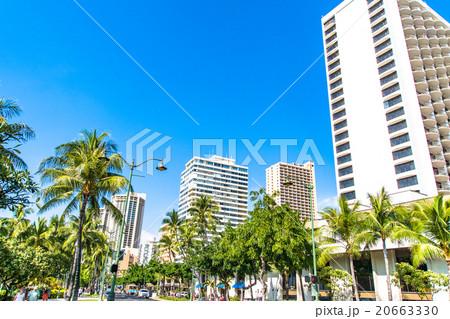 【ハワイ】ワイキキ・カラカウア通り 20663330