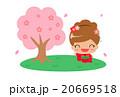 桜の木と女の子 20669518