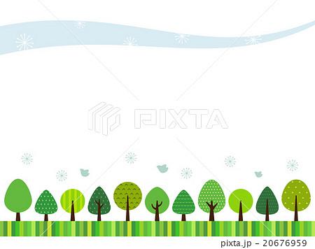 森のフレームのイラスト素材 20676959 Pixta