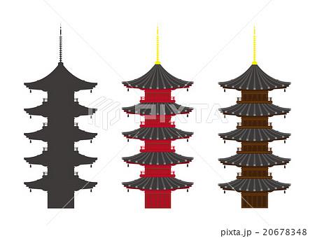 イラスト素材五重塔のイラスト素材 20678348 Pixta