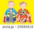 七五三 千歳飴 子供のイラスト 20680818