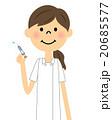 看護師 女性 注射のイラスト 20685577