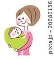 赤ちゃんを抱いている母親 20686136