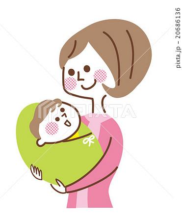 赤ちゃんを抱いている母親のイラスト素材 20686136 Pixta