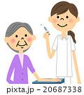 看護師 女性 注射のイラスト 20687338