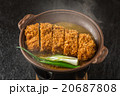 かつ煮 日本食 pork cutlet and egg Japanese food 20687808