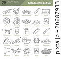 Vector linear icons for military infographics 20687933