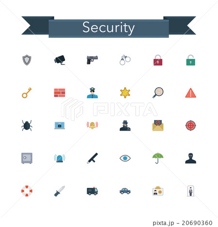 Security Flat Icons 20690360