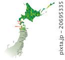 東京-函館路線図_色分け緑 20695335