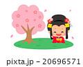 桜の木と日本のお姫様 20696571