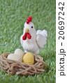 ニワトリと卵(金の卵?入り) 20697242