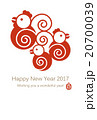 Rooster family New years card Vertical 20700039