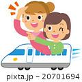 新幹線に乗る女性 20701694
