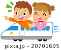 新幹線に乗る子供 20701695