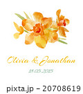 Wedding invitation watercolor with flowers.  20708619