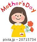 母の日にカーネーションを贈る女の子 20715734
