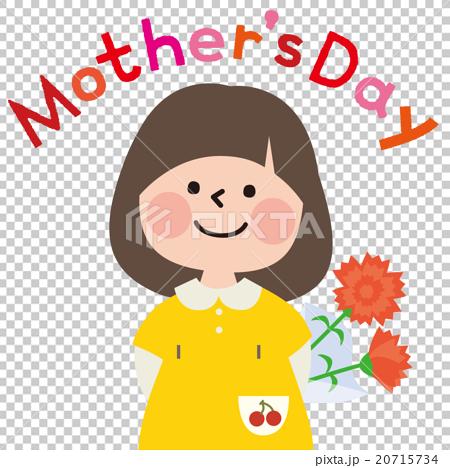 在母親節給康乃馨的女孩 20715734