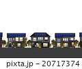 住宅 スマートハウス ソーラーパネルのイラスト 20717374