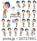 男性 人物 中学生のイラスト 20727601