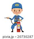 消火器の使い方を教える消防士消防士 20730287