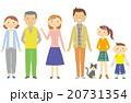 三世代 猫 家族のイラスト 20731354