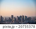 東京の高層ビル群 夕景 20735378