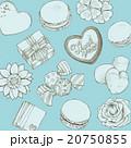 お菓子とお花の背景 20750855