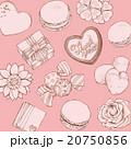 お菓子とお花の背景 20750856