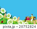 ピクニック 春 親子のイラスト 20752824