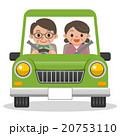 ドライブ 夫婦 イラストのイラスト 20753110