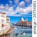 Venice with boats on Grand canal in Italy 20754801