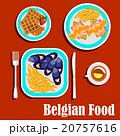 ベルギーの 料理 ベクトルのイラスト 20757616